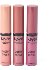 NYX PROFESSIONAL MAKEUP - NYX Professional Makeup Diamonds and Ice Please Butter Gloss Lip Gloss Trio Pink Nudes 01 - Lipgloss