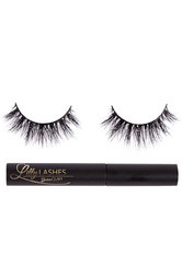 LILLY LASHES - Miami 3D Mink Lash Kit - FALSCHE WIMPERN & WIMPERNKLEBER