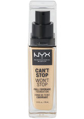 NYX Professional Makeup Can't Stop Won't Stop 24-Hour Foundation Flüssige Foundation  30 ml Nr. 04 - Light Ivory