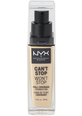 NYX Professional Makeup Can't Stop Won't Stop 24-Hour Foundation Flüssige Foundation  30 ml Nr. 02 - alabaster