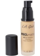 L.A. Girl - Foundation - Pro Matte - HD Long Wear Matte Foundation - 677 Soft Honey