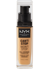 NYX Professional Makeup Can't Stop Won't Stop 24-Hour Foundation Flüssige Foundation 30 ml Nr. 10.3 - Neutral Buff
