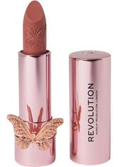 MAKEUP REVOLUTION - Precious Glamour Butterfly Lipstick Extra Fancy - LIPPENSTIFT
