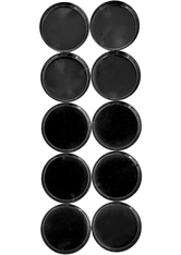 Z PALETTE - Glossy Black Mini Round Metal Pans - 10 Pack - MAKEUP ACCESSOIRES