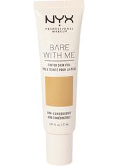 NYX PROFESSIONAL MAKEUP - NYX Professional Makeup Bare With Me Tinted Skin Veil Flüssige Foundation  27 ml Nr. 06 - Golden Caramel - Bb - Cc Cream