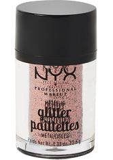 NYX Professional Makeup Glitter Paillettes Metallic Glitzer 2.5 g Nr. 01 - Dubai Bronze