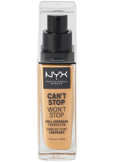 NYX PROFESSIONAL MAKEUP - NYX Professional Makeup Can't Stop Won't Stop 24-Hour Foundation Flüssige Foundation  30 ml Nr. 12 - Classic Tan - Foundation
