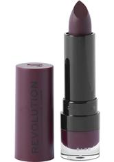 Makeup Revolution Matte Lipstick Plum 148