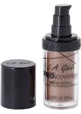L.A. Girl - Foundation - Pro Coverage Liquid Foundation - GLM 654 - Coffee