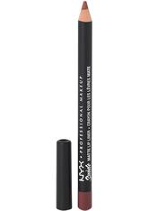 NYX PROFESSIONAL MAKEUP - NYX Professional Makeup Soft Matte Metallic Lip Cream (verschiedene Farbtöne) - Soft Spoken - LIPLINER
