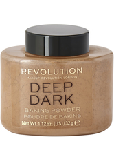 MAKEUP REVOLUTION - Loose Baking Powder  Deep Dark - GESICHTSPUDER