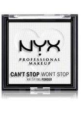 NYX Professional Makeup Can't Stop Won't Stop Mattifying Powder Kompaktpuder 6 g Nr. 11 - Bright Translucent