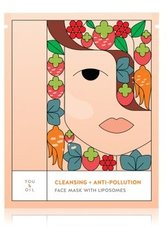 YOU & OIL Face Masks Cleansing+Anti-Pollution With Liposomes Tuchmaske 1 Stk