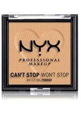 NYX Professional Makeup Can't Stop Won't Stop Mattifying Powder Kompaktpuder 6 g Nr. 05 - Golden