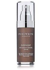 PURE WHITE COSMETICS - Pure White Cosmetics Overnight Antioxidant Renewal Serum Gesichtsserum  30 ml - SERUM