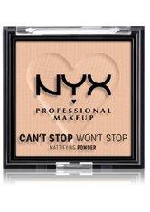 NYX Professional Makeup Can't Stop Won't Stop Mattifying Powder Kompaktpuder 6 g Nr. 03 - Light Medium