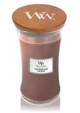 WoodWick Stone Washed Suede Hourglass Duftkerze 610 g