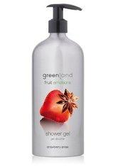 GREENLAND - Greenland Fruit Emotions Strawberry-Anise Duschgel  600 ml - DUSCHEN & BADEN