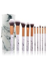 Zoë Ayla Makeup Brush Set and Cylindric Case 10 Pices Marble Pinselset 1 Stk No_Color