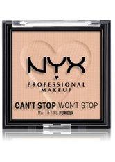 NYX Professional Makeup Can't Stop Won't Stop Mattifying Powder Kompaktpuder 6 g Nr. 04 - Medium