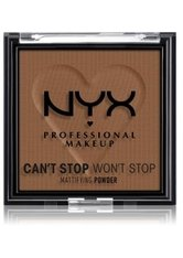 NYX Professional Makeup Can't Stop Won't Stop Mattifying Powder Kompaktpuder 6 g Nr. 09 - Deep