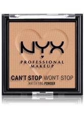 NYX Professional Makeup Can't Stop Won't Stop Mattifying Powder Kompaktpuder 6 g Nr. 06 - Tan