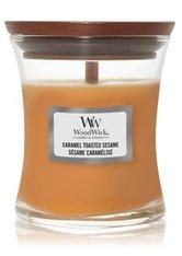 WoodWick Caramel Toasted Sesame Hourglass Duftkerze  85 g