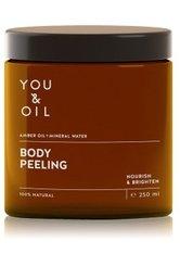 YOU & OIL Nourish & Brighten Amber Oil+Mineral Water Körperpeeling  250 ml