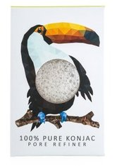 The Konjac Sponge Pore Refiner Minis Rainforest Collection Toucan Gesichtsschwamm  1 Stk