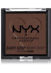 NYX Professional Makeup Can't Stop Won't Stop Mattifying Powder Kompaktpuder 6 g Nr. 10 - Rich