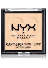 NYX Professional Makeup Can't Stop Won't Stop Mattifying Powder Kompaktpuder 6 g Nr. 02 - Light