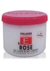 Village Pflege Vitamin E Body Cream Rose 500 ml