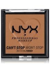 NYX Professional Makeup Can't Stop Won't Stop Mattifying Powder Kompaktpuder 6 g Nr. 08 - Mocha