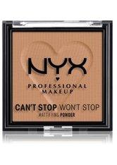 NYX Professional Makeup Can't Stop Won't Stop Mattifying Powder Kompaktpuder 6 g Nr. 07 - Caramel
