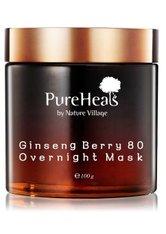 PUREHEAL'S - PureHeal's Ginseng Berry 80 Overnight Gesichtsmaske  100 ml - CREMEMASKEN