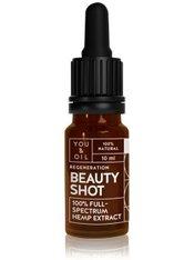 YOU & OIL Beauty Shots 100 % Full-Spectrum Hemp Extract Gesichtsöl  10 ml