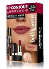 Bellápierre Cosmetics Make-up Sets Lip Contour & Highlighting Kit Makeup Base 8,5 g + Highlighter Pencil 1,8 g + Gel Lip Liner Nude 1,8 g + Mineral Lipstick Catwalk 3,5 g 1 Stk.