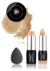 Bellápierre Cosmetics Make-up Teint Flawless Complexion Cream Kit Full Coverage Foundation Stick Dark 10 g + Mineral Concealer Stick Medium/Dark 3,5 g + Banana Powder 4 g + Mini Bella Blender