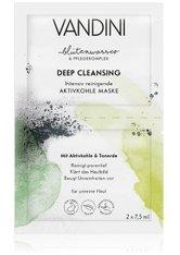 VANDINI Blütenwasser Deep Cleansing Aktivkohle Gesichtsmaske 15 ml