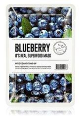 DERMAL It's Real Superfood Blueberry Tuchmaske  1 Stk
