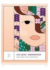 YOU & OIL Face Masks Anti Aging+Regeneration With Liposomes Tuchmaske 1 Stk