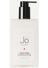 JO LOVES - Jo Loves - White Rose & Lemon Leaves Hand & Body Lotion, 200 Ml – Bodylotion - one size - HÄNDE