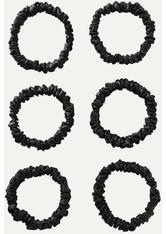 SLIP - Slip - Set Aus Sechs Schmalen Haargummis Aus Seide - Schwarz - one size - HAARBÄNDER & HAARGUMMIS