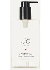 JO LOVES - Jo Loves - White Rose & Lemon Leaves Hand & Body Cleanser, 200 Ml – Cleanser - one size - SEIFE