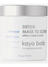 KAYO - Kayo - Detox Mask To Scrub, 177 Ml – Peelingmaske - one size - PEELING