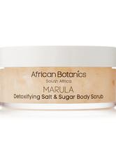African Botanics - Marula Detoxifying Salt And Sugar Body Scrub, 200 Ml – Körperpeeling - one size - AFRICAN BOTANICS