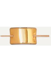 BALMAIN - Balmain Paris Hair Couture - Haarspange Aus Metallic-leder Mit Goldfarbenen Details - one size - HAARBÄNDER & HAARGUMMIS