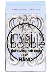 invisibobble Haargummis Nano Crystal Clear, Pro Packung 3 Stück