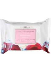 KORRES - Korres Gesichtspflege Cleansing Daily Pomegranate Cleansing & Makeup Removing Wipes Pomegranate 25 Stk. - MAKEUP ENTFERNER