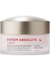 ANNEMARIE BÖRLIND SYSTEM ABSOLUTE SYSTEM ANTI-AGING Regenerierende Nachtcreme Light 50 ml
